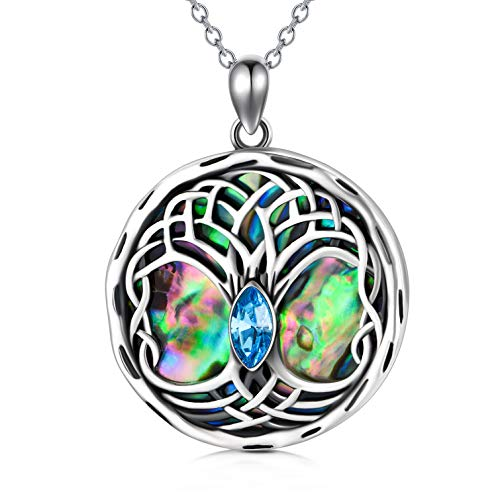 Celtic Tree of Life Necklace Sterling Silver Family Tree Pendant Necklace