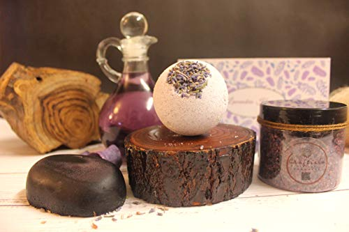 Craftiela Lavender Heaven Natural Organic Gift Set For Her Wild Lavender Bath Bomb