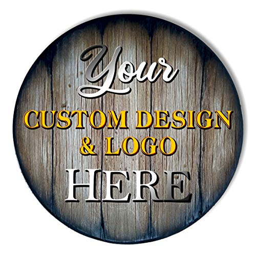 Create Your Own Table Top, Size 24/30/36 inches, Personalized Handmade Artwork on Rustic Wood, Inspired by Whiskey Beer & Wine Barrels