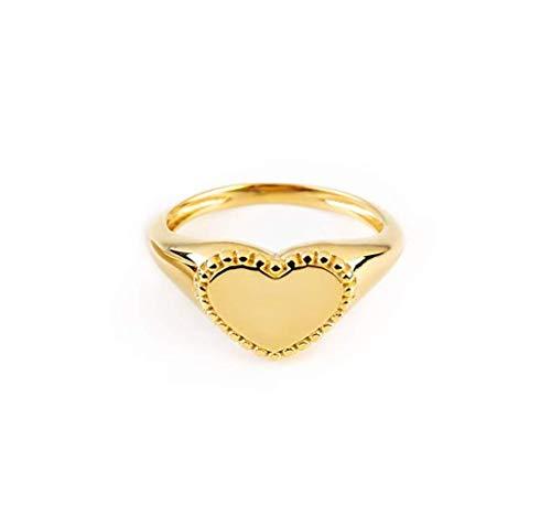 Elegant jewel box Women Dotted heart ring in solid Gold 9k, 14k, & 18k
