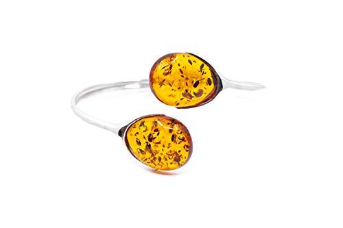 Modern Amber Torque Bangle, Baltic Amber Bangle