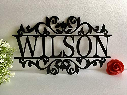 Personalised Any Name Laser Cut Acrylic Metal Wood Sign