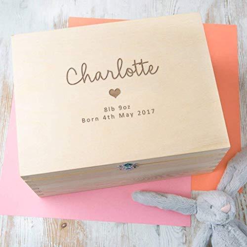 Personalised Baby Gift Wooden Keepsake Box/Memory Box - Girls and Boys Designs