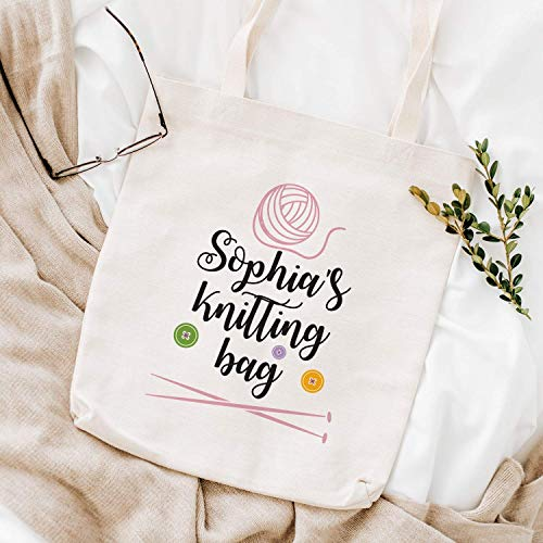 Personalised knitting bag/Personalized gift for knitter with name
