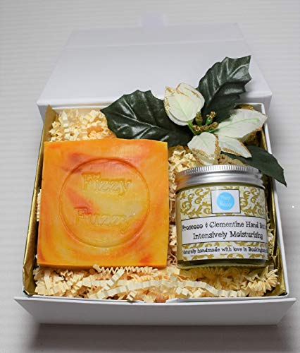 Prosecco & Clementine Gift set, Hand Cream and Soap, Fizzy Fuzzy.