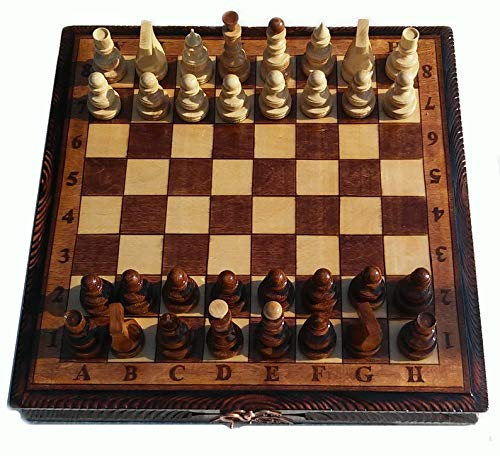 Solid wood chess set with storage large chess board Premium gifts Entertainment Board Game