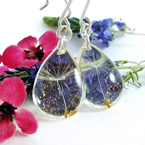 Sterling Silver Small Dandelion Seed Earrings