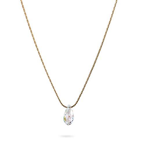 Swarovski Crystal Teardrop 14k Gold Filled Chain
