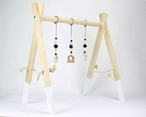 Wooden baby play gym handmade in UK activity frame jungle gym